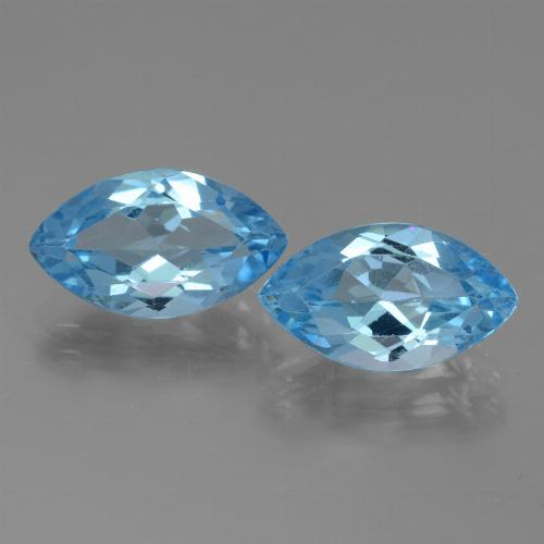 Swiss Blue Topaz Gem - 4ct Marquise Facet (ID: 438534)