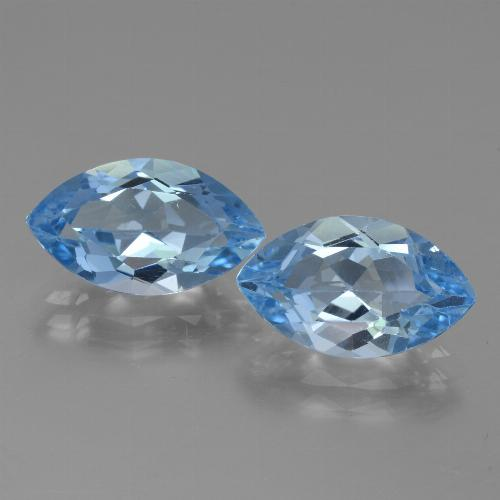 4.2ct Marquise Facet Swiss Blue Topaz Gem (ID: 438535)
