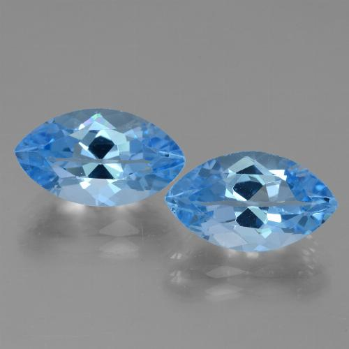 Swiss Blue Topaz Gem - 4.7ct Marquise Facet (ID: 438536)