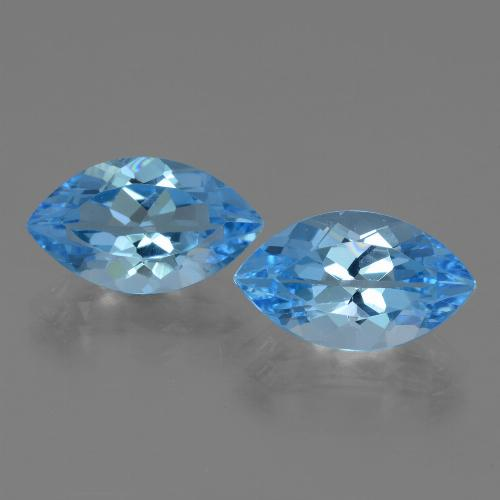 Swiss Blue Topaz Gem - 4.3ct Marquise Facet (ID: 438549)