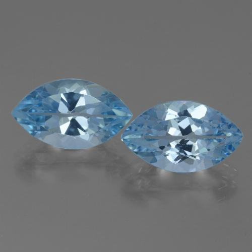 4.2ct Marquise Facet Swiss Blue Topaz Gem (ID: 438550)