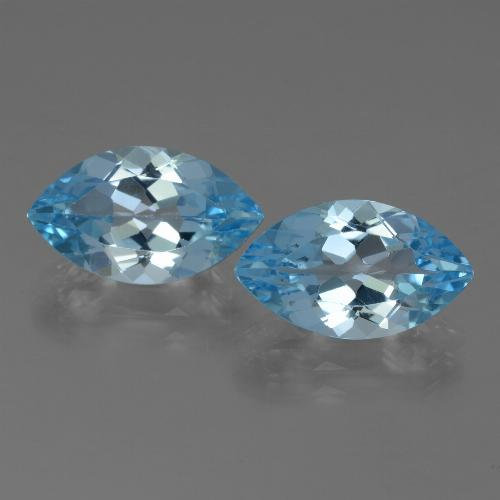 Baby Blue Topaz Gem - 4ct Marquise Facet (ID: 438552)