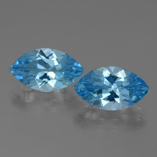 Swiss Blue Topaz Gem - 4.1ct Marquise Facet (ID: 438553)