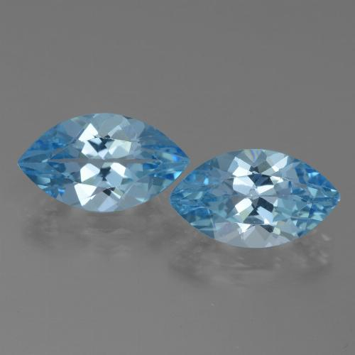 Swiss Blue Topaz Gem - 4.1ct Marquise Facet (ID: 438554)