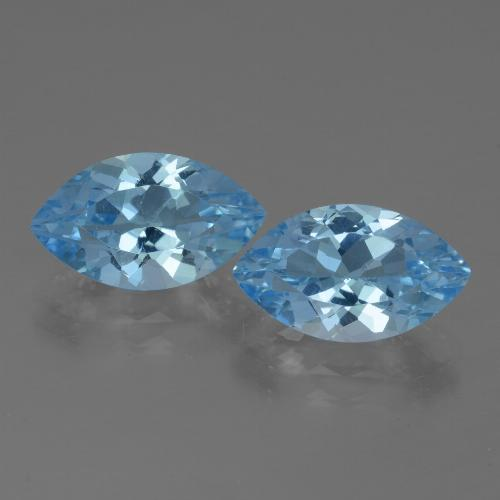 Swiss Blue Topaz Gem - 4ct Marquise Facet (ID: 438557)