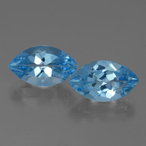4.3ct Marquise Facet Swiss Blue Topaz Gem (ID: 438558)