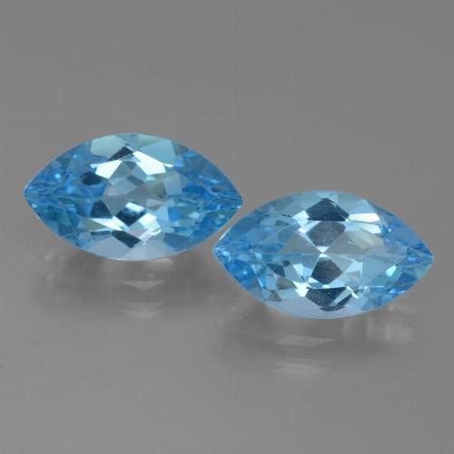 Swiss Blue Topaz Gem - 4.2ct Marquise Facet (ID: 438559)