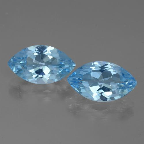 Medium Blue Topaz Gem - 4ct Marquise Facet (ID: 438560)