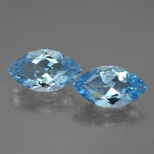 Swiss Blue Topaz Gem - 4.1ct Marquise Facet (ID: 438574)
