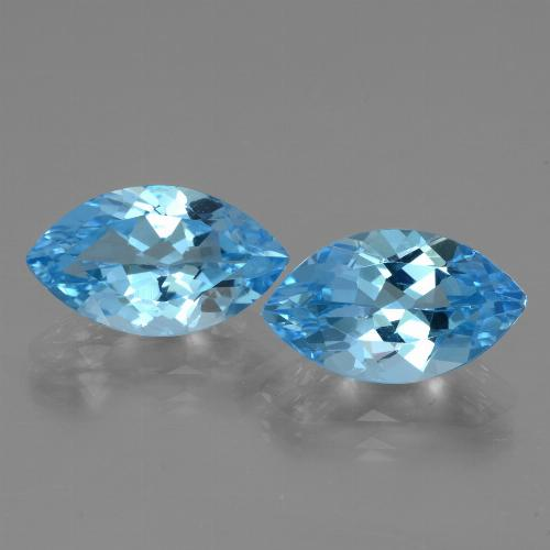 Medium Blue Topacio Gema - 4.1ct Forma marquesa (ID: 438576)