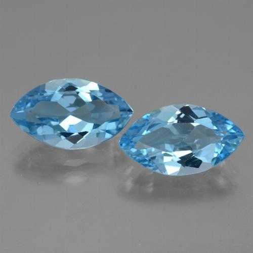 4.1ct Marquise Facet Swiss Blue Topaz Gem (ID: 438577)