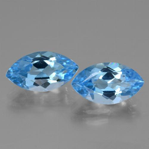 4.1ct Marquise Facet Swiss Blue Topaz Gem (ID: 438579)