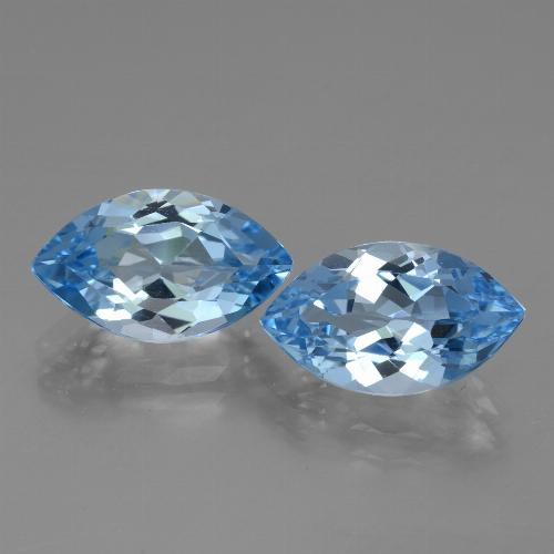 4.2ct Marquise Facet Swiss Blue Topaz Gem (ID: 438580)