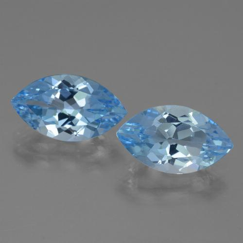 4.1ct Marquise Facet Swiss Blue Topaz Gem (ID: 438581)