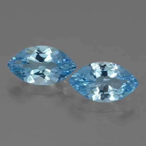 Swiss Blue Topaz Gem - 3.8ct Marquise Facet (ID: 438582)