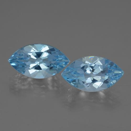 Swiss Blue Topaz Gem - 3.8ct Marquise Facet (ID: 438583)