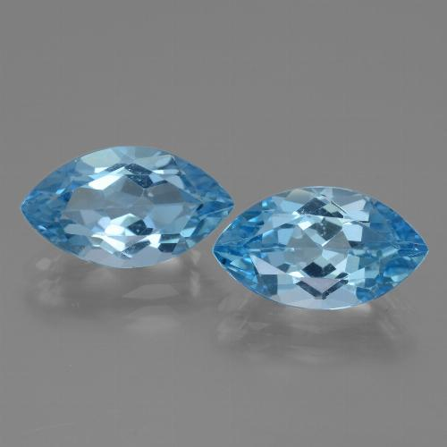 Swiss Blue Topaz Gem - 4.1ct Marquise Facet (ID: 438584)
