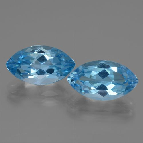 Sky Blue Topaz Gem - 4.8ct Marquise Facet (ID: 438585)