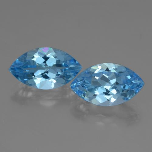 Swiss Blue Topaz Gem - 4ct Marquise Facet (ID: 438613)