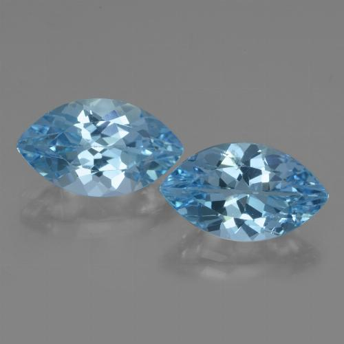 Swiss Blue Topaz Gem - 4.2ct Marquise Facet (ID: 438614)