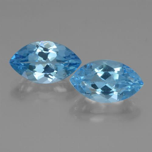 Swiss Blue Topaz Gem - 4.3ct Marquise Facet (ID: 438615)