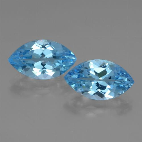 Swiss Blue Topaz Gem - 4ct Marquise Facet (ID: 438616)