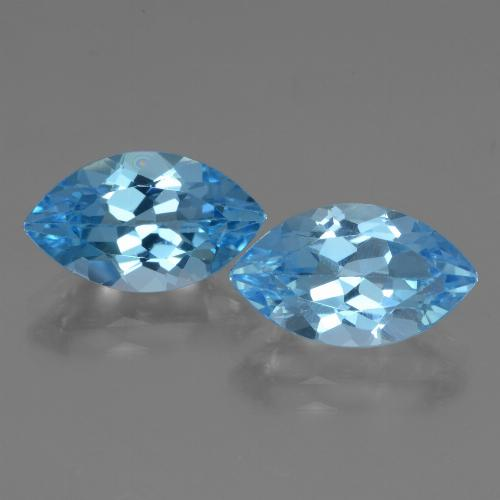 Swiss Blue Topaz Gem - 4.2ct Marquise Facet (ID: 438618)
