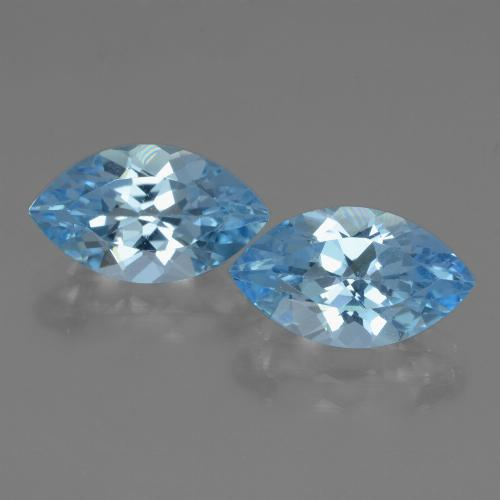 Swiss Blue Topaz Gem - 4.1ct Marquise Facet (ID: 438619)