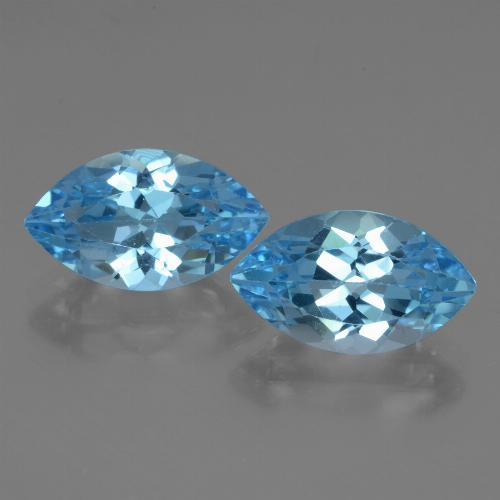 Swiss Blue Topaz Gem - 4.4ct Marquise Facet (ID: 438620)