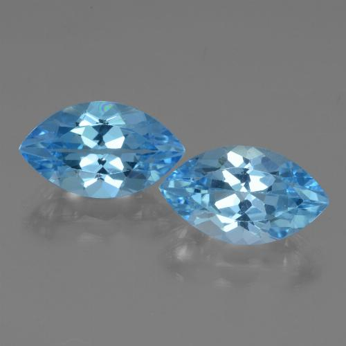 Swiss Blue Topaz Gem - 4.1ct Marquise Facet (ID: 438621)