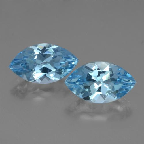 Light Blue Topaz Gem - 4ct Marquise Facet (ID: 438622)