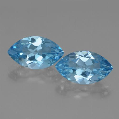 Swiss Blue Topaz Gem - 3.9ct Marquise Facet (ID: 438623)