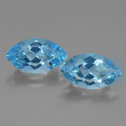 4.2ct Marquise Facet Swiss Blue Topaz Gem (ID: 438624)