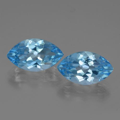 4.3ct Marquise Facet Swiss Blue Topaz Gem (ID: 438650)