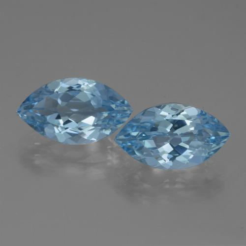 Swiss Blue Topaz Gem - 4.1ct Marquise Facet (ID: 438651)