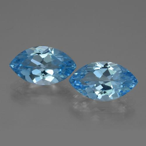 Swiss Blue Topaz Gem - 3.9ct Marquise Facet (ID: 438652)