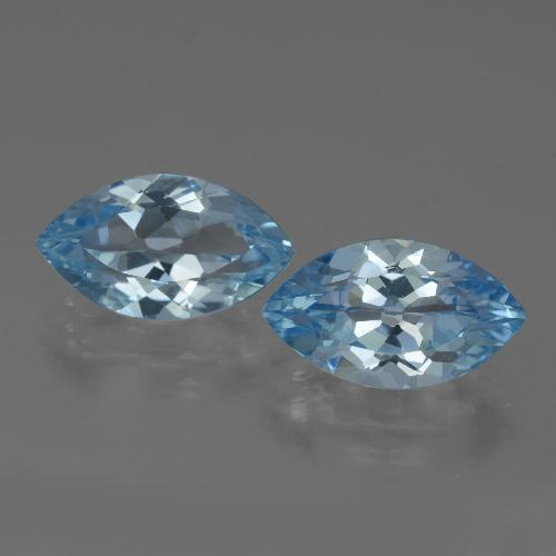 Swiss Blue Topaz Gem - 4ct Marquise Facet (ID: 438655)