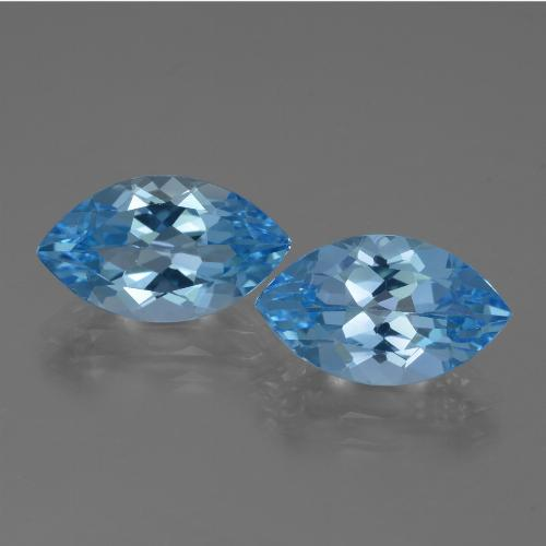 Swiss Blue Topaz Gem - 4.1ct Marquise Facet (ID: 438656)
