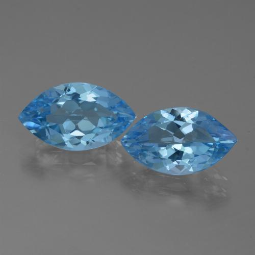 Swiss Blue Topaz Gem - 3.7ct Marquise Facet (ID: 438658)