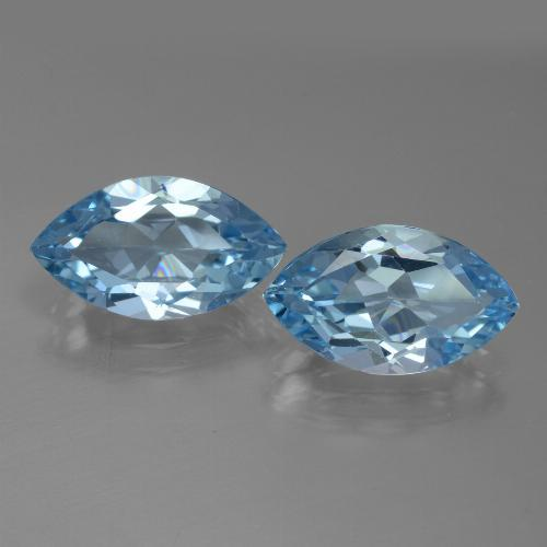 3.9ct Marquise Facet Swiss Blue Topaz Gem (ID: 438660)
