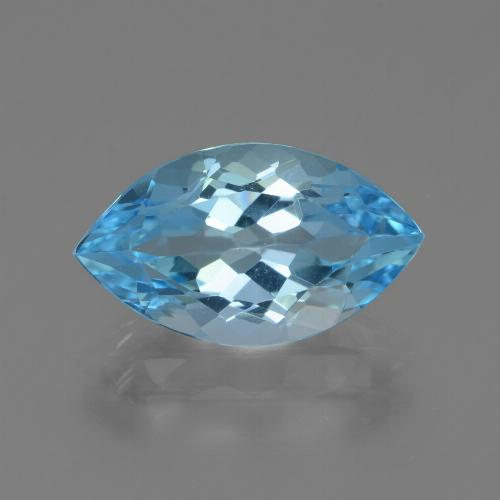 Swiss Blue Topaz Gem - 4.3ct Marquise Facet (ID: 438700)