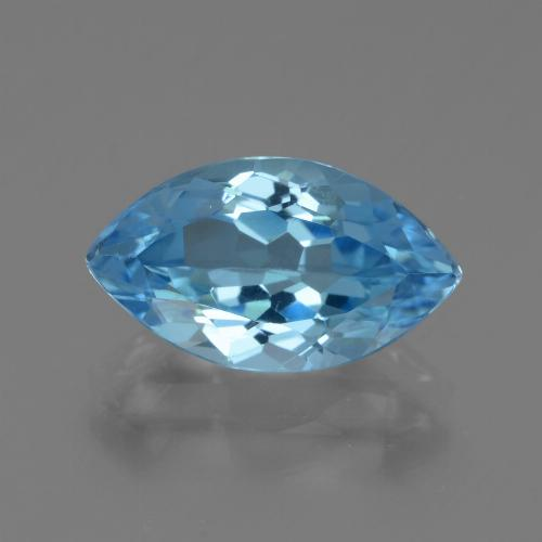 Swiss Blue Topaz Gem - 4ct Marquise Facet (ID: 438701)