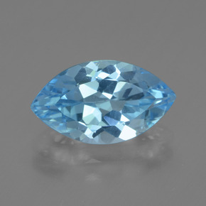 Swiss Blue Topaz Gem - 4ct Marquise Facet (ID: 438702)