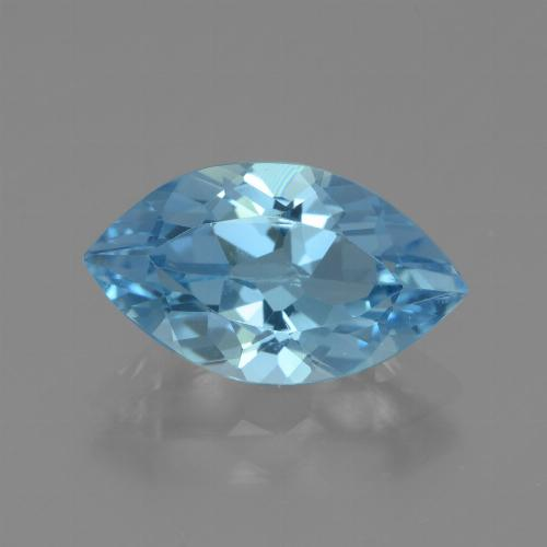 Swiss Blue Topaz Gem - 3.7ct Marquise Facet (ID: 438707)