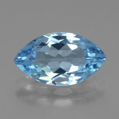 Swiss Blue Topaz Gem - 3.6ct Marquise Facet (ID: 438736)