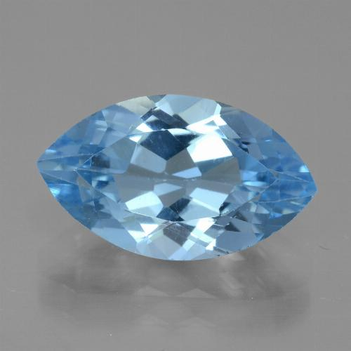 4.48 ct Marquise Facet Swiss Blue Topaz Gemstone 14.21 mm x 8.3 mm (Product ID: 438778)