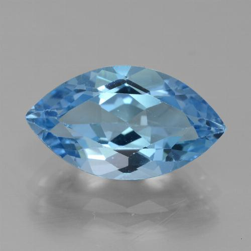 Swiss Blue Topaz Gem - 4.4ct Marquise Facet (ID: 438780)