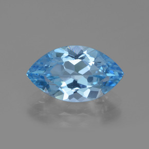 Swiss Blue Topaz Gem - 4.1ct Marquise Facet (ID: 438847)