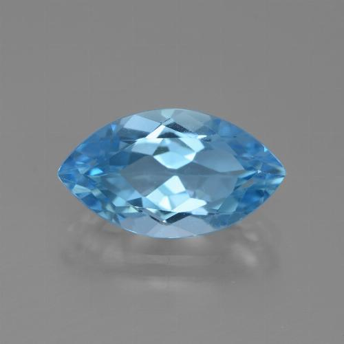 Light Cyan Blue Topacio Gema - 4.2ct Forma marquesa (ID: 438851)