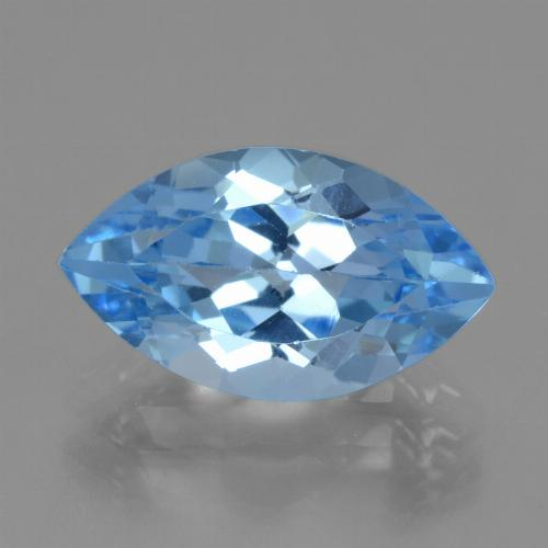 Swiss Blue Topaz Gem - 4.3ct Marquise Facet (ID: 438899)
